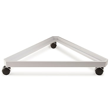 24 in.  Triangle Grid Base, White