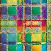 "Shamrock 24""W Power Plaid Gift Wrap, Blue/Green/Red/Yellow"