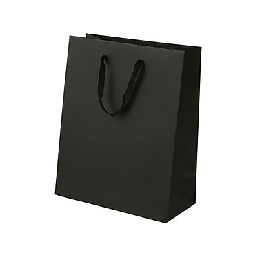 Shamrock 10in. x 8in. x 4in. Cub Recycled Paper Eurotote Bags, Black