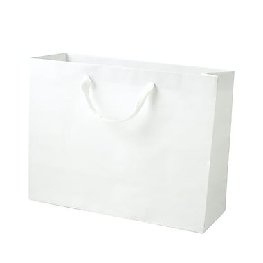 Shamrock 10in. x 13in. x 5in. Medium Vogue Recycled Paper Eurotote Bags, White