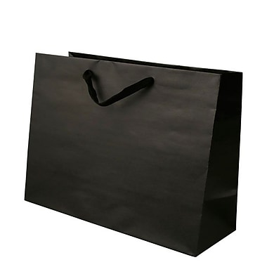 Shamrock 12in. x 16in. x 6in. Large Vogue Recycled Paper Eurotote Bags, Black