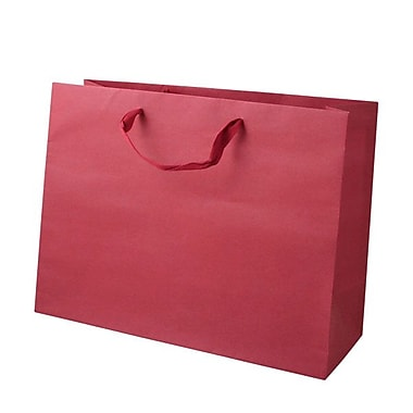 Shamrock 12in. x 16in. x 6in. Large Vogue Recycled Paper Eurotote Bags, Red