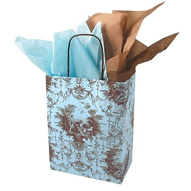 Shamrock 10 1/2in. x 8in. x 4 3/4in. Printed Paper Chimp Shopping Bags, Toile Nouvelle