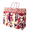 Shamrock 16in. x 6in. x 13in. Printed Paper Jaguar Shopping Bags, Ikat