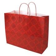 Shamrock 16 x 6 x 13 Printed Paper Jaguar Shopping Bags, Moroccan Tile