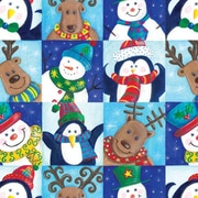 "Shamrock 24""W Winter Fun Gift Wrap, Blue/White/Black/Brown/Assorted"