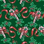 Shamrock 24W Ribbons and Canes Gift Wrap, Red/Green