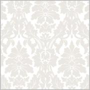 "Shamrock 24""W Gothic Flourish Gift Wrap, Pearl/White"