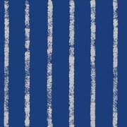 "Shamrock 24""W Bands of Silver/Navy/Kraft Gift Wrap"
