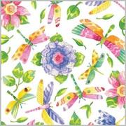 "Shamrock 24""W Damselfly Gift Wrap, White/Pink/Green/Purple/Yellow/Assorted"