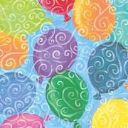 """Shamrock 24""""W Balloons Galore Gift Wrap, Blue/Green/Orange/Yellow/Pink"""