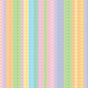 "Shamrock 24""W Dotty Stripe Gift Wrap, White/Orange/Green/Blue"