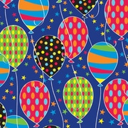 "Shamrock 24""W Party Balloons Gift Wrap, Blue/White/Assorted"