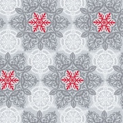 "Shamrock 24""W Christmas Lace Gift Wrap, Silver/Red/White"