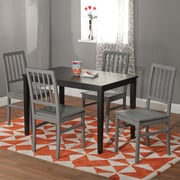 "TMS Camden 29"" x 45"" x 28"" 5 Piece Dining Set, Black/Gray"