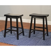 "TMS Belfast 24"" Saddle Bar Stool, Black (20324BLK PR)"