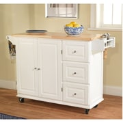 TMS Sundance Wood Kitchen Cart, White