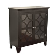 TMS Sydney Wood and Acrylic Cabinet, Black