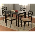 TMS Riviera 29in. x 45in. x 28in. Rubberwood 5 Piece Dining Set, Black