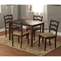 TMS Riviera 29in. x 45in. x 28in. Rubberwood 5 Piece Dining Set, Espresso