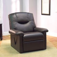 TMS Brady Faux Leather Recliner, Chocolate
