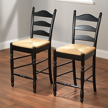 TMS 24in. Ladder Back Wood Stools