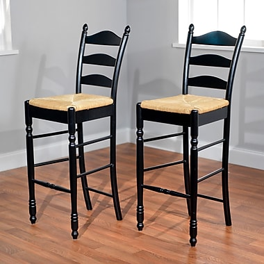 TMS 30in. Ladder Back Stool, 2/Pack