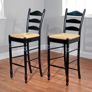 TMS 30 Ladder Back Stool, Black, 2/Pack (37330BLK PR)