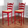 TMS 30in. Ladder Back Wood Stool, Red