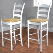 TMS 30 Ladder Back Stool, White, 2/Pack (37330WHT PR)