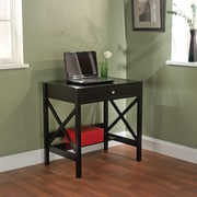 TMS Wood X Writing Desk, Black