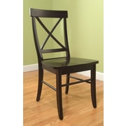 TMS Easton Crossback Solid Wood Desk Chair, Black