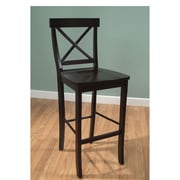 TMS Easton 24 Crossback Wood Barstool, Espresso