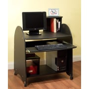 TMS 39 x 23.6 x 31 1/2 Engineered Wood Computer Workstation, Black