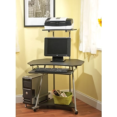 Computer desks computer workstations best small corner computer desk - Staples corner storage ...