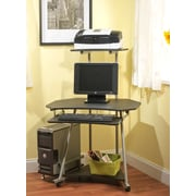 TMS Corner Computer Tower with CPU Stand, Black (50162BLK)