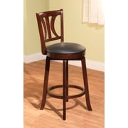 TMS Houston 24 Faux Leather Swivel Stool, Black