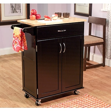 TMS Kitchen Cart With Wood Top, Black/NaturalSorry, this item is currently out of stock.