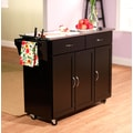 TMS Extra Large Kitchen Cart With Stainless Steel Top, Black