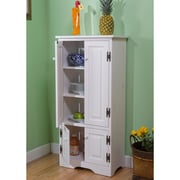 TMS Wood Tall Cabinet, White