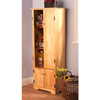 Tms 3 shelf engineered wood extra tall cabinet hon ey for Additional shelves for kitchen cabinets