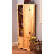 TMS Engineered Wood Extra Tall Cabinet, Honey
