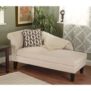 TMS Leena Cotton Storage Chaise, Beige