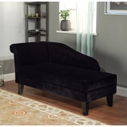 TMS Milan Microfiber Fabric Storage Chaise, Black