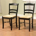 TMS Paloma Woven Rush Dining Chair, Black