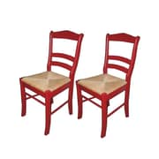 TMS Paloma Woven Rush Dining Chair, Red