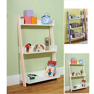 TMS Solid Wood/MDF Kids 3-Tier Shelf, Soft White