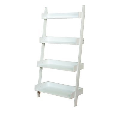 TMS Solid Wood/MDF Kids 4-Tier Shelf, Soft White
