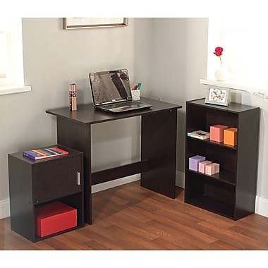 TMS Soho Engineered Wood 3 Piece Study Set, Espresso
