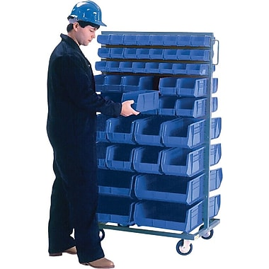 Kleton Mobile Bin Racks, Double Sided, 36